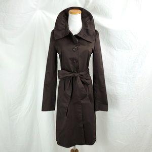 Elizabeth McKay Size 0 Belted Jacket Dress Brown